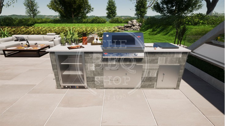 Yukon BeefEater BBQ Outdoor Kitchen - The Deluxe