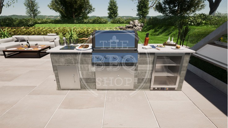 Yukon Broil King BBQ Outdoor Kitchen - The Deluxe