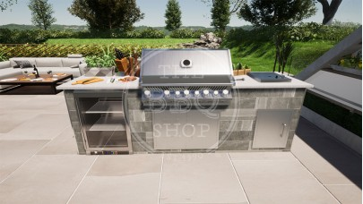 Yukon Napoleon BBQ Outdoor Kitchen - The Deluxe Pro