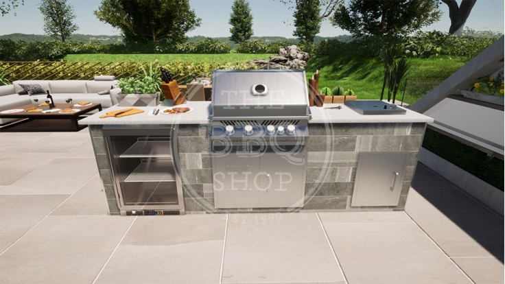 Yukon Napoleon BBQ Outdoor Kitchen - The Deluxe
