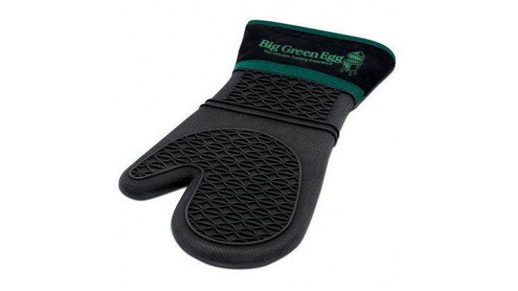 Big Green Egg Heat Resistant Silicone Mitt with fabric cuff
