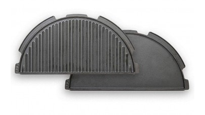 Big Green Egg - Cast Iron Plancha Griddle (Half Moon) For XL EGGspander 122995