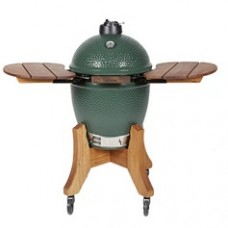 Big Green Egg Large Bundle with Royal Mahogany Nest