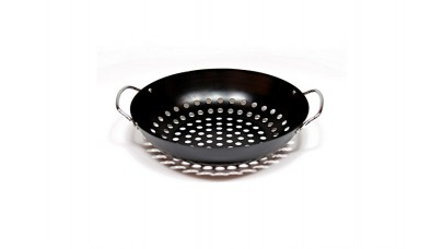 Big Green Egg Round Grill Wok Basket