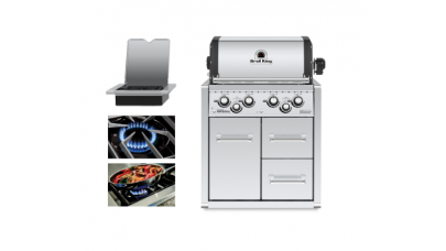 Broil King Imperial 490 Built-In BBQ with Cabinet - Free Cover