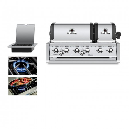 Broil King Imperial XLS Natural Gas Built In Grill Head - Free Cover
