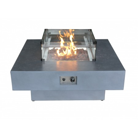Capella Gas Fire Pit - Small Glass Screen