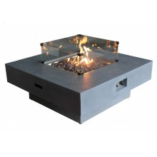 Capella Gas Fire Pit - Medium Glass Screen