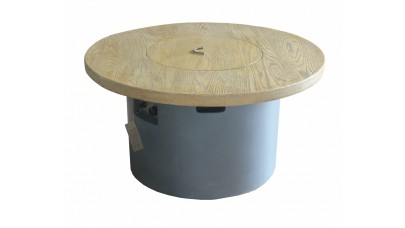Sarin Round Wood Table With Infill