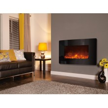 Celsi Electriflame XD Curved - Black Glass