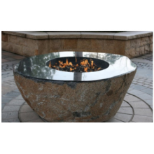 Elementi Large Granite Outdoor Firepit Boulder
