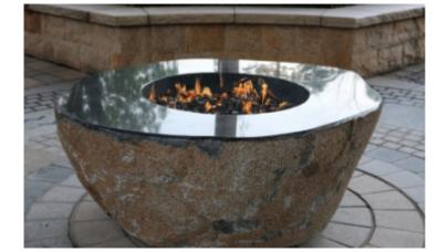 Elementi Large Granite Outdoor Firepit Boulder