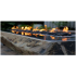 Elementi Long Granite Boulder Outdoor Firepit - Natural Gas