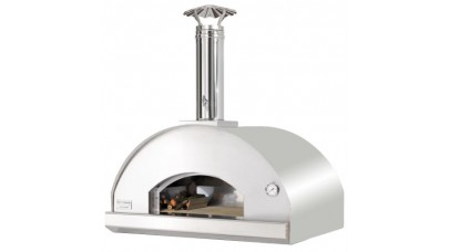 Fontana - Mangiafuoco Built in Wood Pizza Oven - Stainless Steel