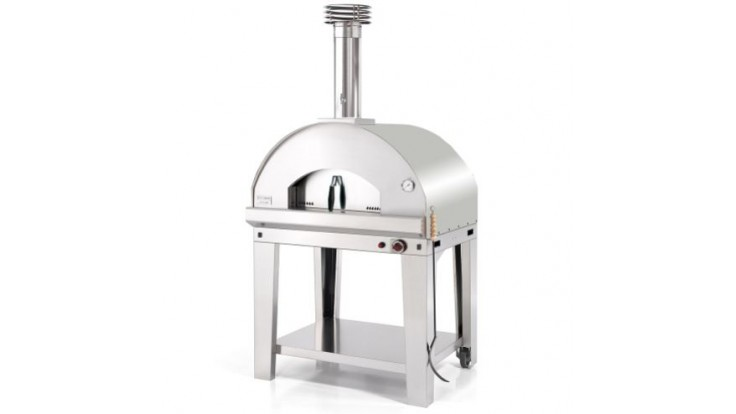 Fontana - Mangiafuoco Gas Pizza Oven with Trolley - Stainless Steel