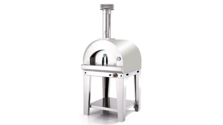 Fontana - Margherita Gas Pizza Oven with Trolley - Stainless Steel