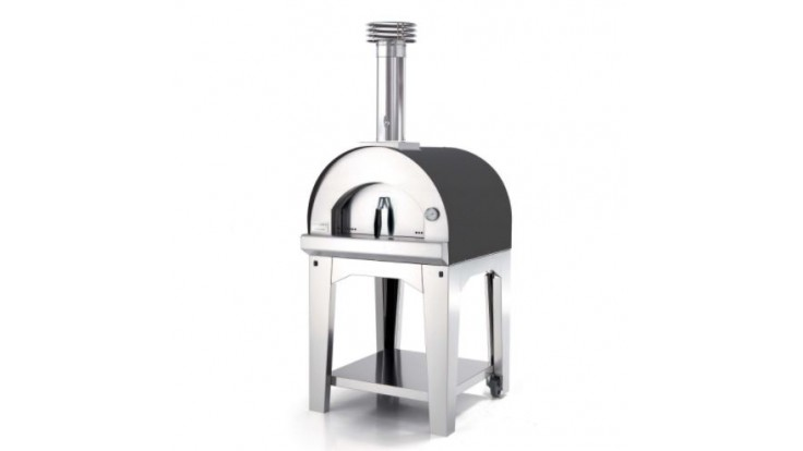 Fontana - Margherita Wood Pizza Oven with Trolley - Anthracite