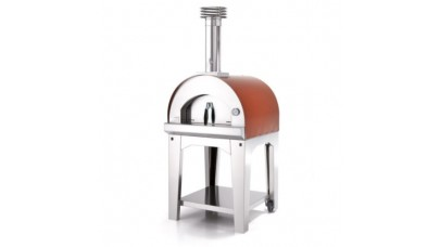Fontana - Margherita Wood Pizza Oven with Trolley - Rosso