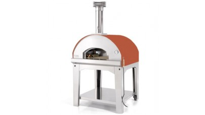 Fontana - Marinara Wood Pizza Oven with Trolley - Rosso