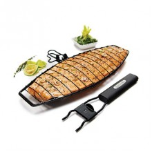 Grill Pro Non Stick Fish Basket Removable Handle