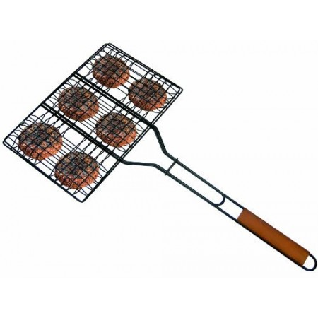 Grill Pro Six Pocket Hamburger Broiler