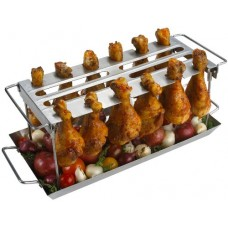 Grill Pro Stainless Steel Wing Rack
