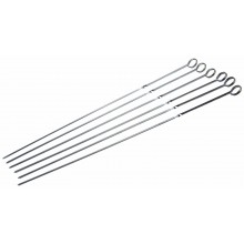 Grill Pro 6 Chrome Plated 18' Shish Kebab Skewers