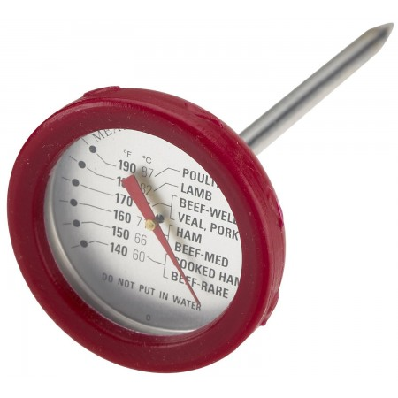 Grill Pro Stainless Meat Thermometer w/Silicone Bezel