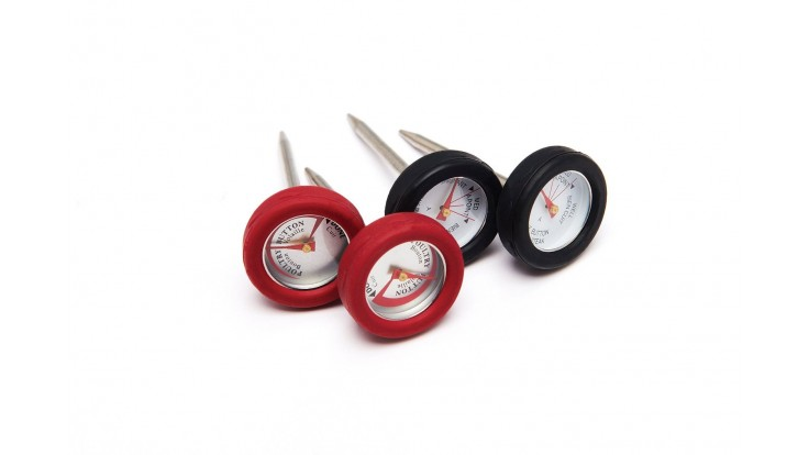 Grill Pro 4 Mini Thermometers w/ Silicone Bezel