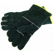 Grill Pro Black Leather BBQ Gloves