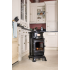 Provence Portable Real Flame Gas Heater in Gloss Black