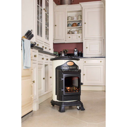 Provence Portable Real Flame Gas Heater Cream And Black