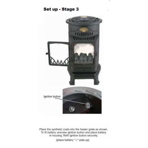 Provence Portable Real Flame Gas Heater Blue