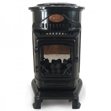 Provence Portable Real Flame Gas Heater Gloss Black