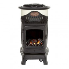 Provence Portable Real Flame Gas Heater - Cream and Black