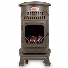 Provence Portable Real Flame Gas Heater - Honey Brown