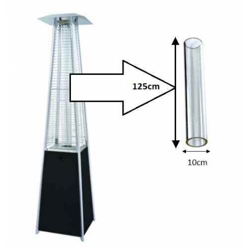 Flame Patio Heater Replacement Glass Tube