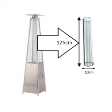 Flame Patio Heater Replacement Glass Tube for Pyramid Heaters (Tahiti, Athena, A-Z)