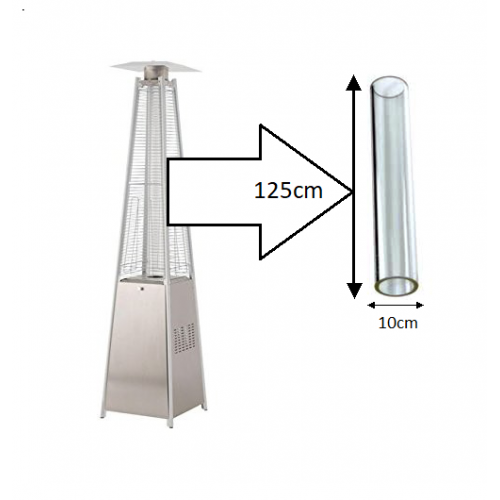 Flame Patio Heater Replacement Glass Tube For Pyramid Heaters (Tahiti,  Athena, A Z)
