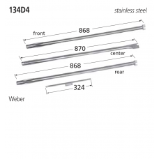 134D4 BBQ Burner - Weber