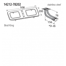 14212-78202 BBQ Burner - Broil King