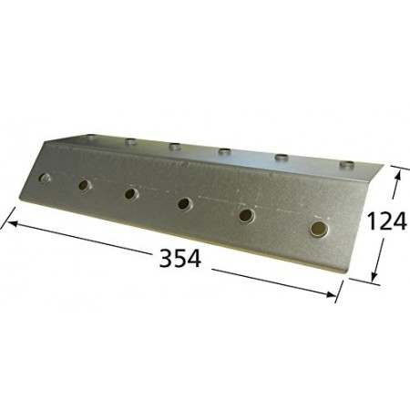 95581 Stainless Steel Heat Plate for Blooma and Montana Brand Gas Grills - Silver