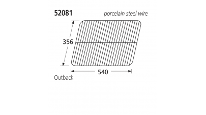52081 BBQ Porcelain Steel Wire Grill - Ohio/Outback/Sahara