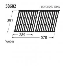 58682 BBQ Porcelain Steel Grill - Weber
