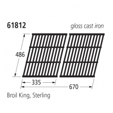 61812 BBQ Grill - Sterling/Broil King