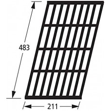 67431 Gloss Cast Iron BBQ Grill - Beefeater/Outback