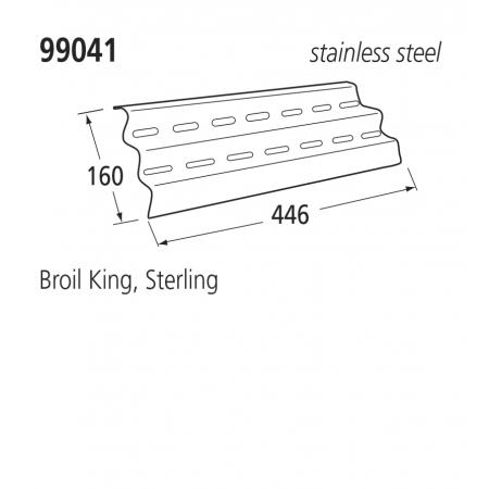 99041 BBQ Heat Plates - Sterling/Broil King