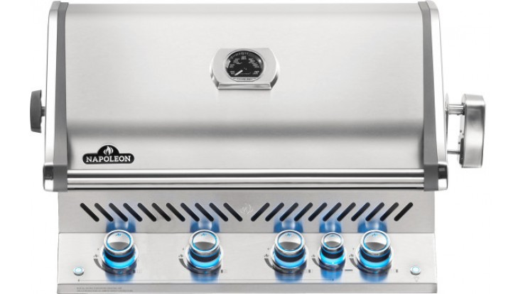 Napoleon Prestige BIPRO500RBNSS-3 Natural Gas Built In BBQ - Free Rotisserie