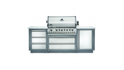 Napoleon Oasis 100 - Prestige PRO 665 - Kitchen BBQ - Free Cover & Rotisserie