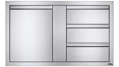 Napoleon Stainless Steel Built In Door and Drawer Combo - BI-3624-1D3DR